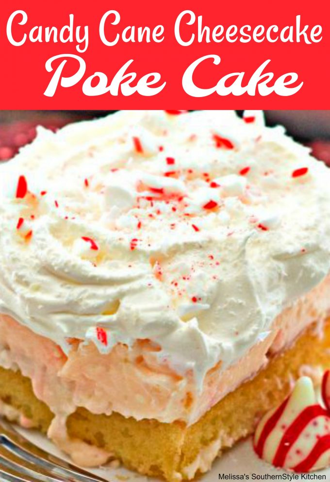 Candy Cane Cheesecake Poke Cake