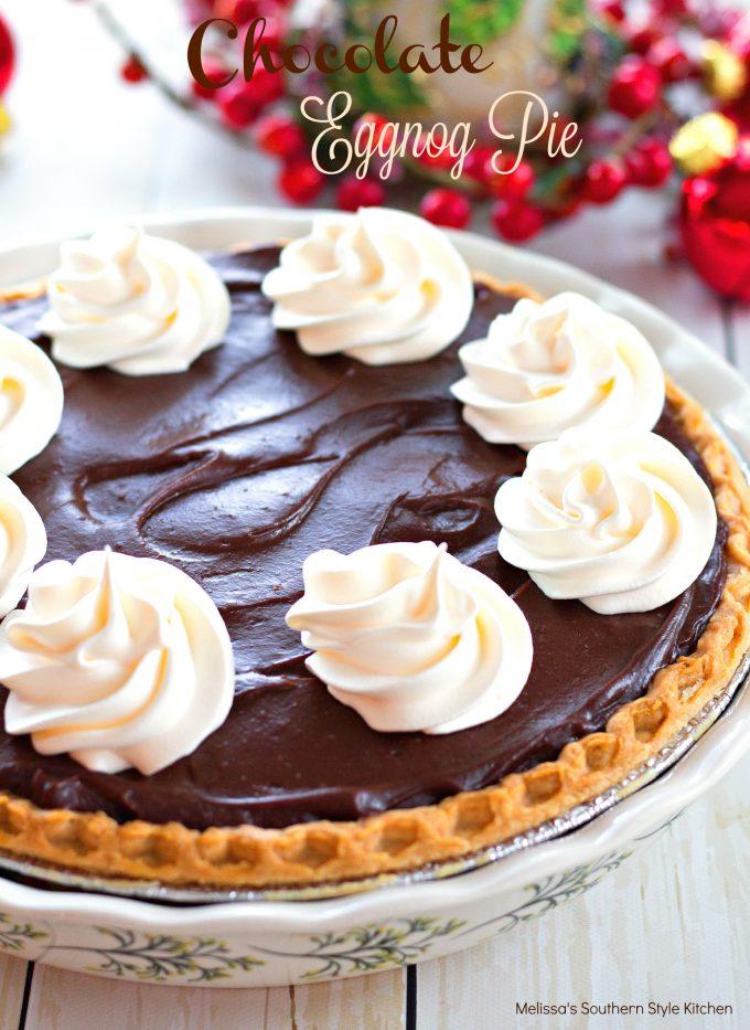 Chocolate Eggnog Pie Melissassouthernstylekitchen Com