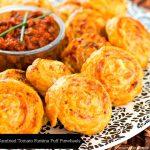 Sundried Tomato Fontina Puff Pinwheels Recipe