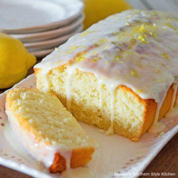 Lemon Burst Buttermilk Cake with fresh lemon zest