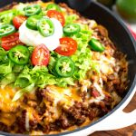Easy Corn Bread Crusted Taco Pie