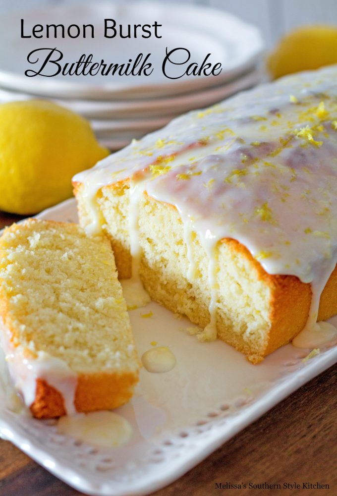 Lemon Burst Buttermilk Cake Melissassouthernstylekitchen Com