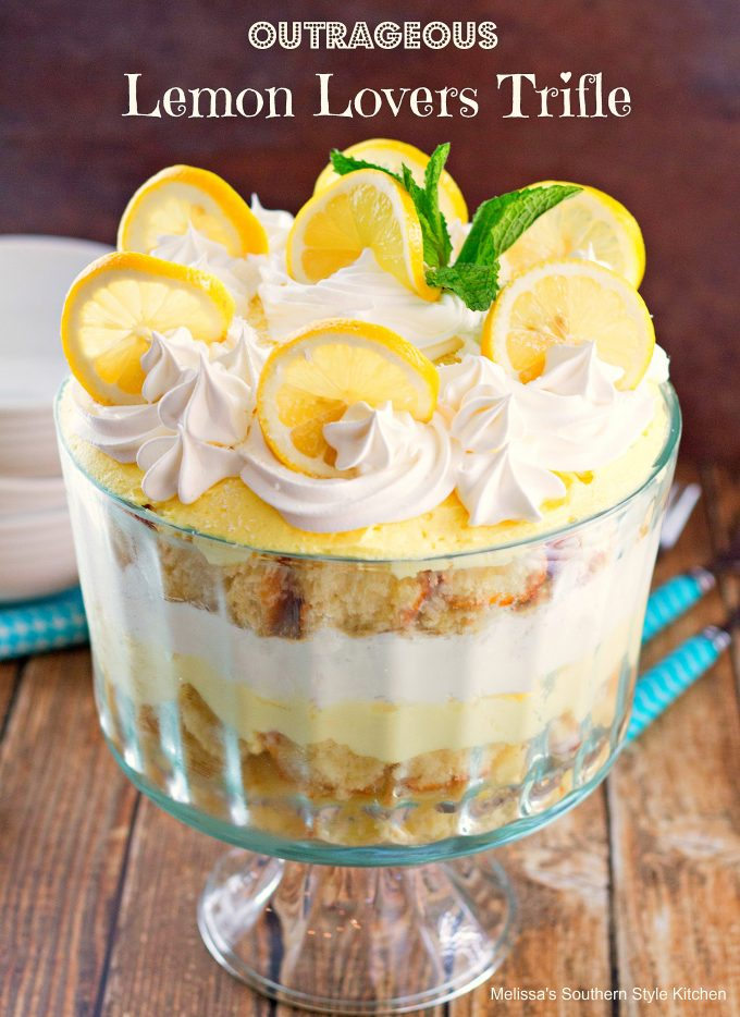 Lemon Blueberry Trifle With Angel Food Cake