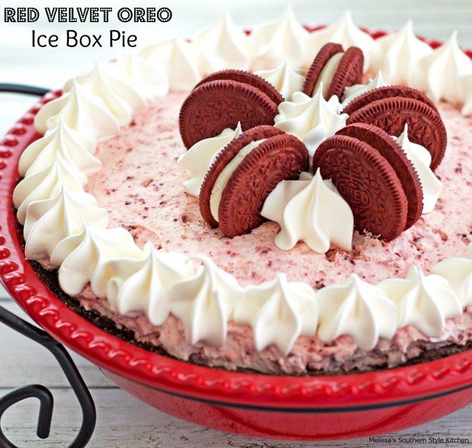 Red Velvet Oreo Ice Box Pie