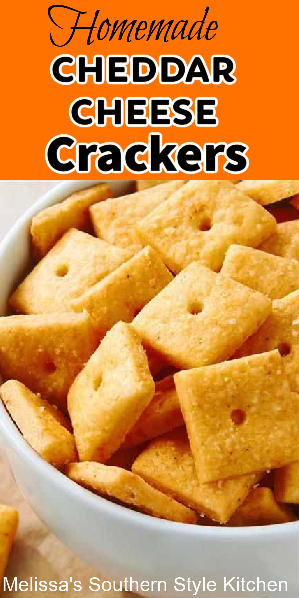 These Homemade Cheddar Cheese Crackers are cheesy, crisp and all natural ideal for serving at a casual get together and tailgating parties #cheesecrackers #homemadecheddarcheesecrackers #crackersrecipe #cheesecrackersrecipe #homemadecrackers
