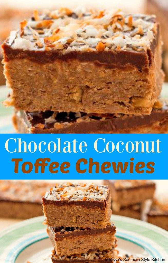Chocolate Coconut Toffee Chewies