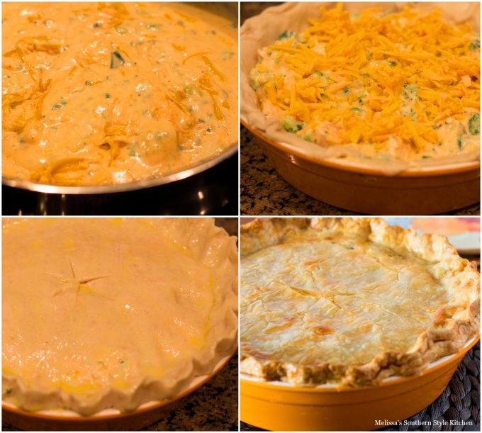 Broccoli Cheddar Chicken Pot Pie