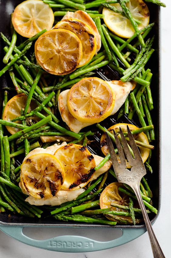 Grilled Lemon Chicken Skillet