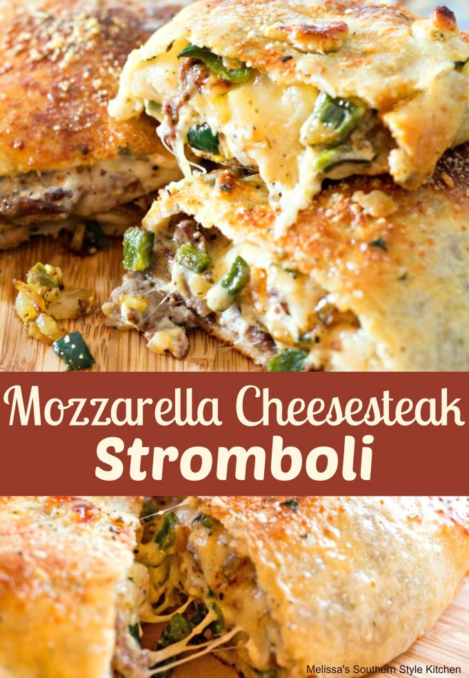 Mozzarella Cheesesteak Stromboli