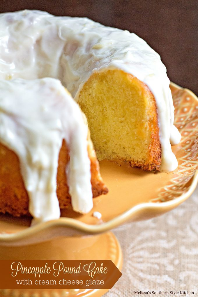 Pineapple Pound Cake With Cream Cheese Glaze ...