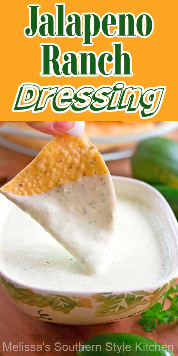 Make your own Homemade Jalapeno Ranch Dressing packed with flavor #jalapenoranchdressing #jalapeno #ranchdressing #chuyscopycat #copycatrecipes #dressing #saladdressingrecipes #southernfood #southernrecipes