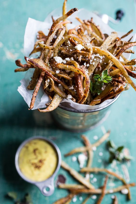 Skinny Greek Feta Fries