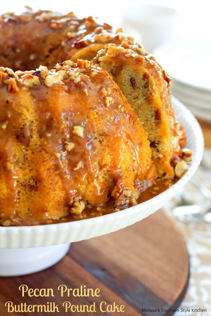Homemade Pecan Praline Cake Recipe