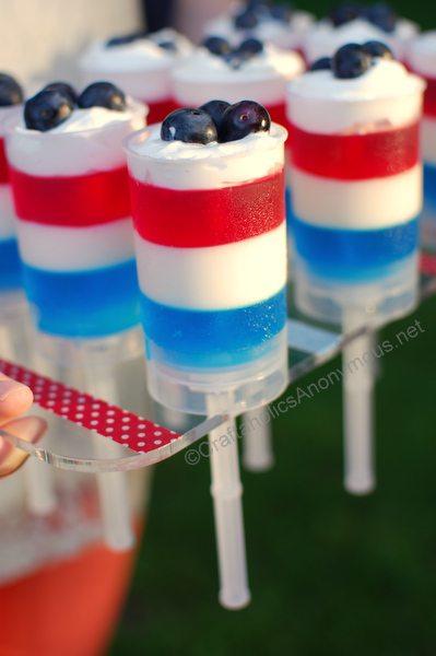 Patriotic Push Up Pops