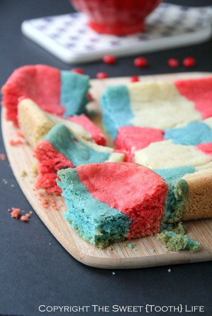 Red White and Blue Sugar Cookie Bars
