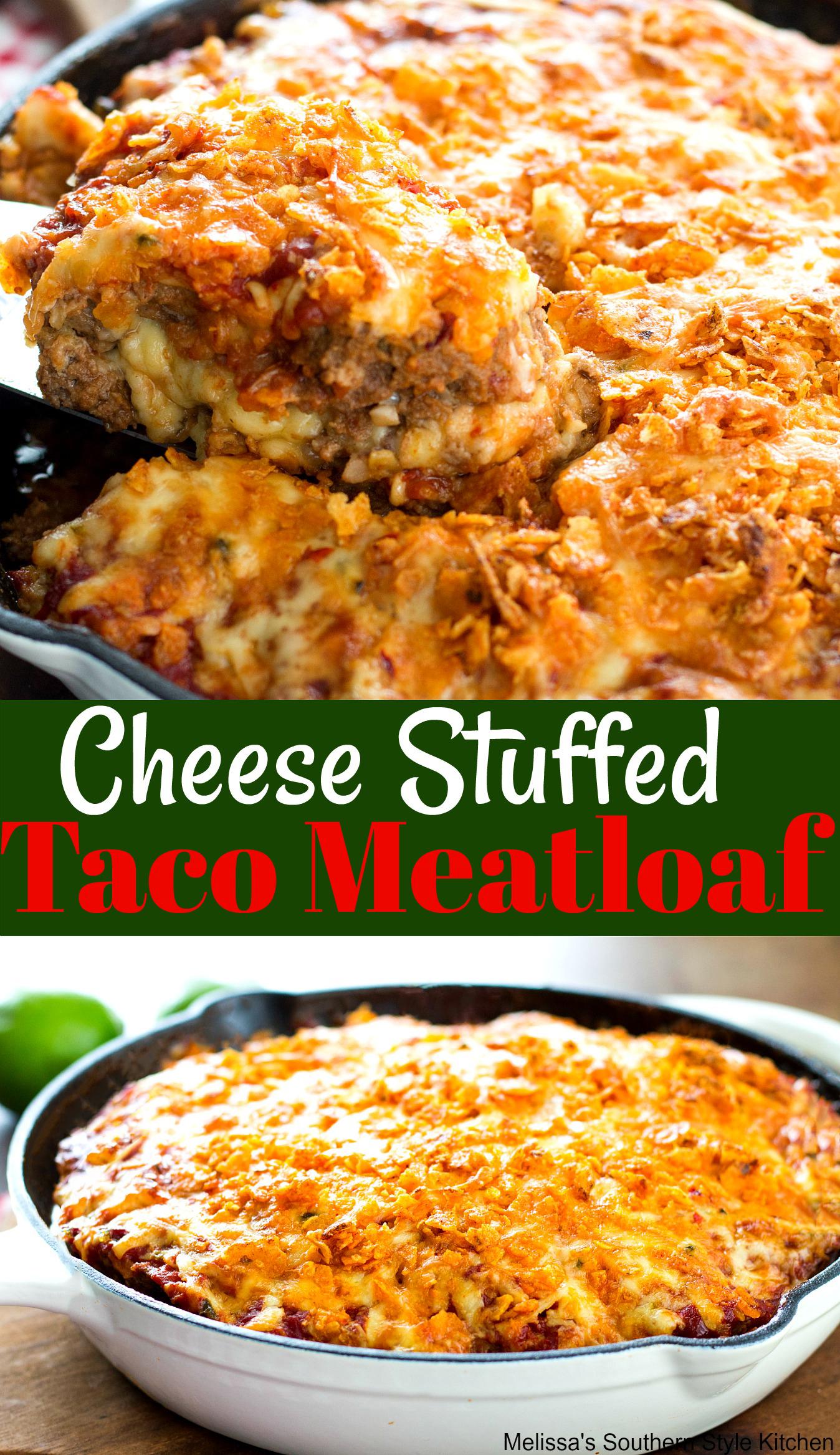 Cheese Stuffed Taco Meatloaf