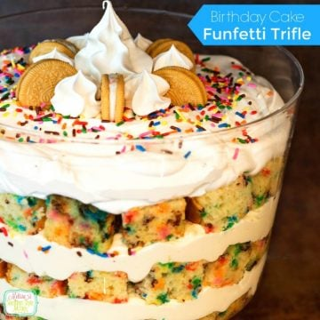 Birthday Cake Funfetti Trifle recipe