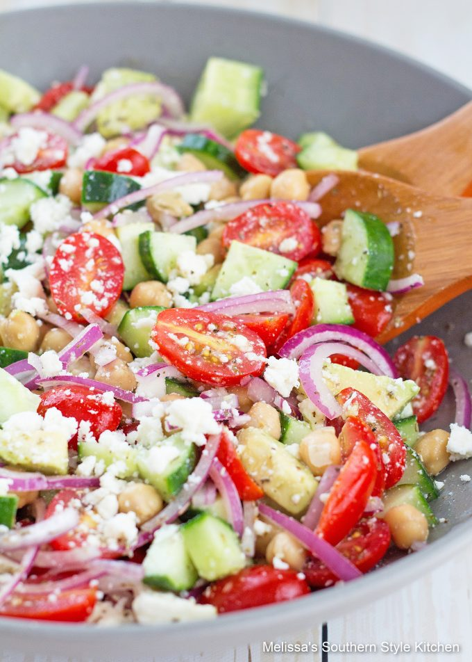 best ever Chopped Chickpea Salad with Avocado