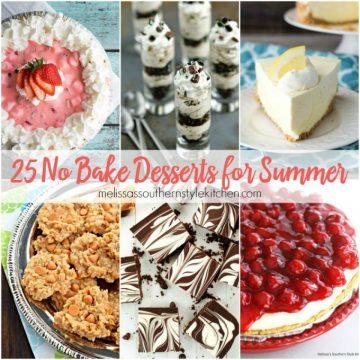 25 No Bake Desserts for Summer