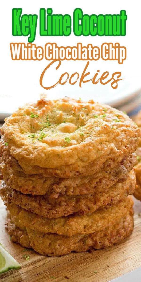 Key Lime Coconut White Chocolate Chip Cookies #keylimecookies #coconutcookies #whitechocolate #cookierecipes #summerdesserts #dessertfoodrecipes #keylimedesserts #holidaybaking #easter #summerpicnics #southernrecipes #southernfood #melissassouthernstylekitchen