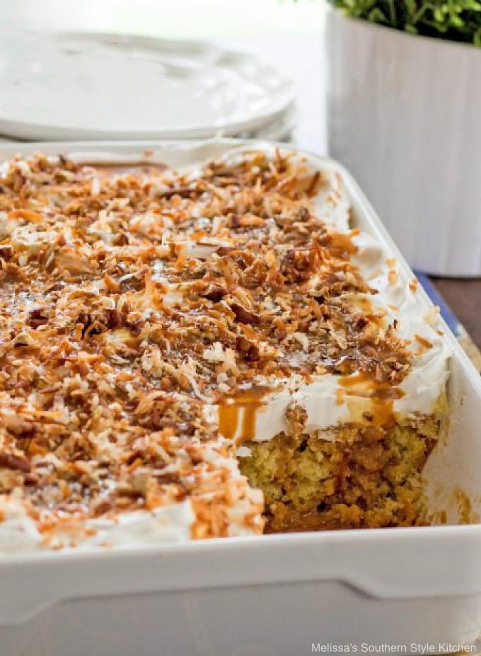 caramel-coconut-poke-cake-dessert