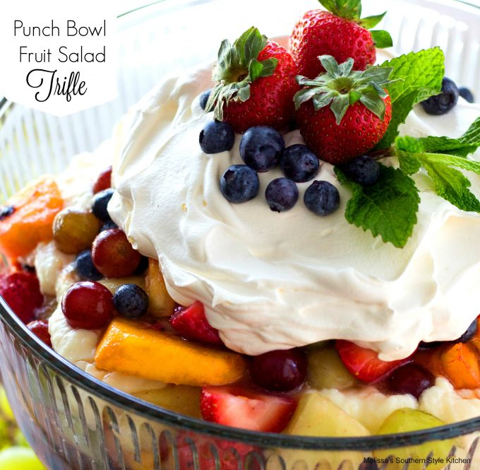 Punch Bowl Fruit Salad Trifle