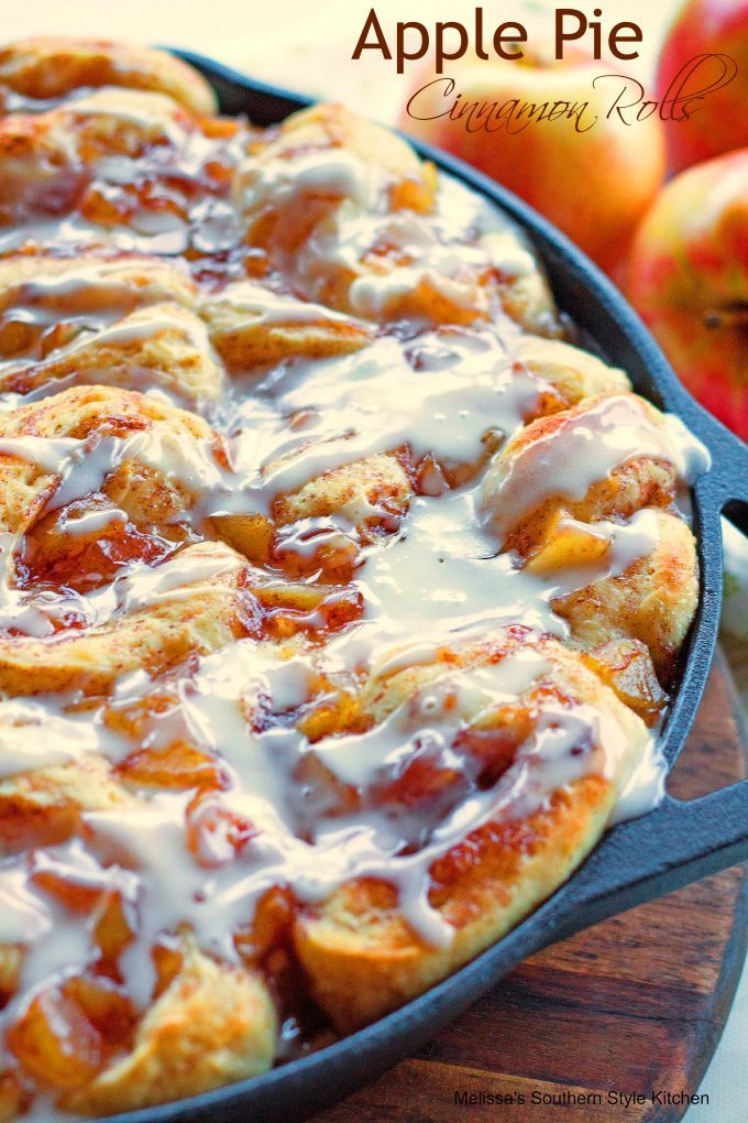 Apple Pie Cinnamon Rolls from Melissa's Southern Style Kitchen