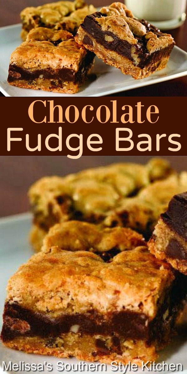 Treat yourself to these Chocolate Fudge Bars for a handheld chocolate lovers dessert #chocolatebars #chocolatefudgebars #cookiebars #barrecipes #chocolate #holidaybaking #holidayrecipes #dessert #dessertfoodrecipes #southernfood #southernrecipes
