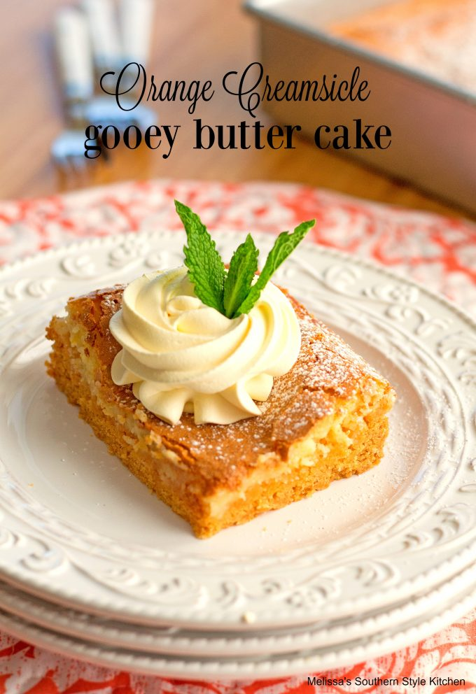 Orange Creamsicle Gooey Butter Cake