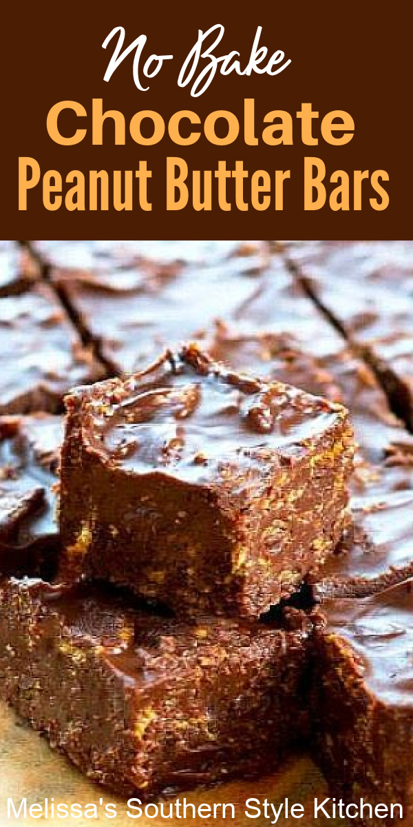 Satisfy your sweets craving with these crunch bars that require no oven time at all #chocolatepeanutbutterbars #crunchbars #candyrecipes #peanutbutter #nobakedesserts #nobakebars #holidayrecipes #christmascandy #peanutbutter