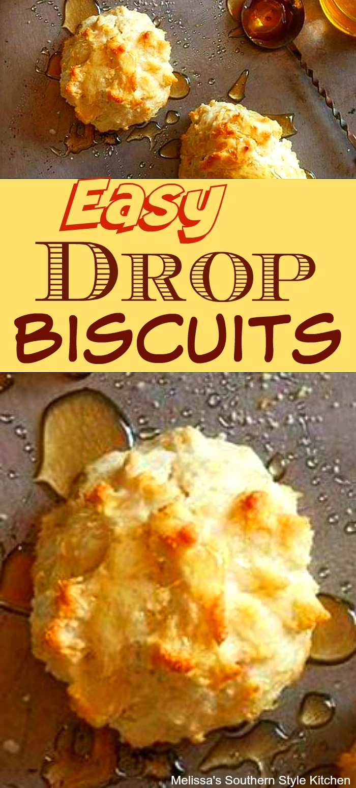 Whip-up a batch of these Easy Drop Biscuits for any meal #dropbiscuits #southernbiscuits #buttermilkbiscuits #bestbiscuitrecipes #breakfast #brunch #southernfood #holidaybaking #holidaybrunch #southernrecipes #biscuits