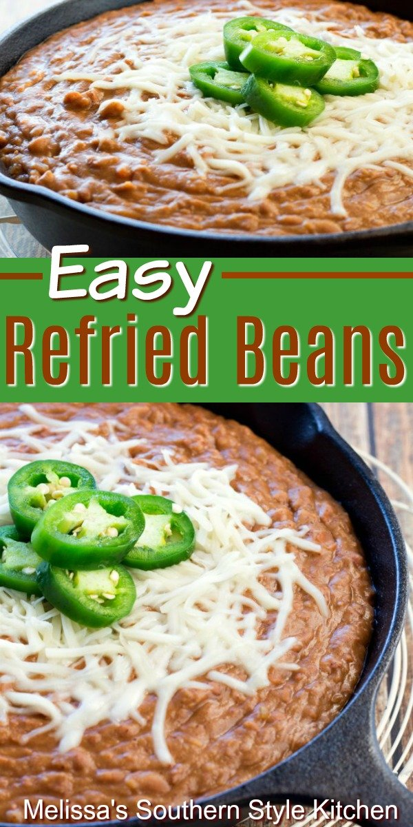 These Easy Refried Beans are packed with flavor #refriedbeans #beans #sidedishideas #dinnerideas #pintobeans #fiestasides #southernfood #southernrecipes