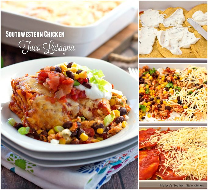 Southwestern Chicken Taco Lasagna