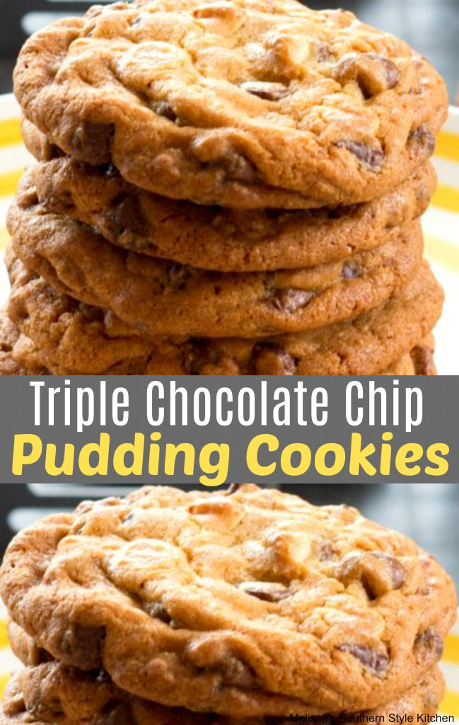Triple Chocolate Chip Pudding Cookies ...