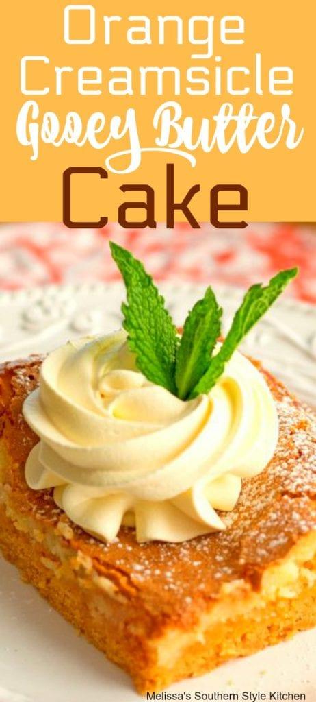 Orange Creamsicle Gooey Butter Cake