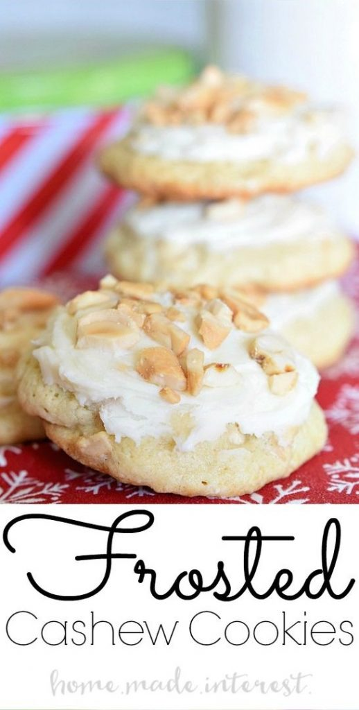 Frosted Cashew Cookies from Home.Made.Interest.
