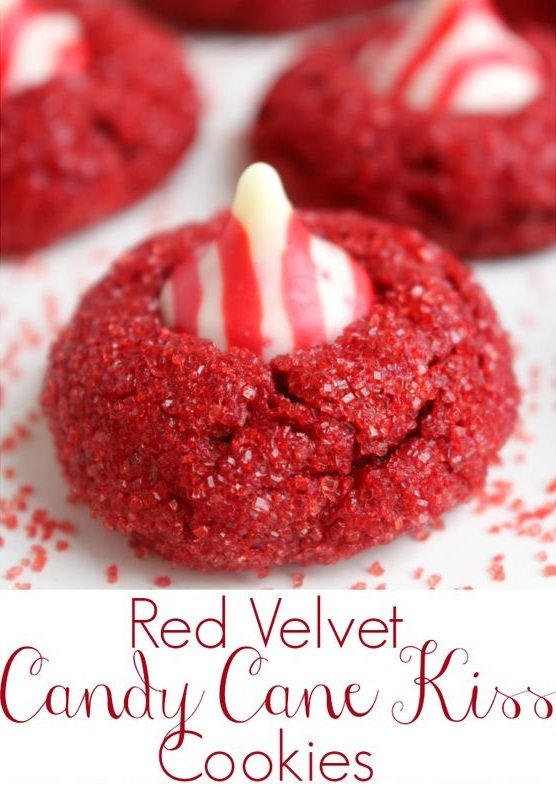 red-velvet-candy-cane-kiss-cookies