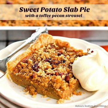 Sweet Potato Slab Pie