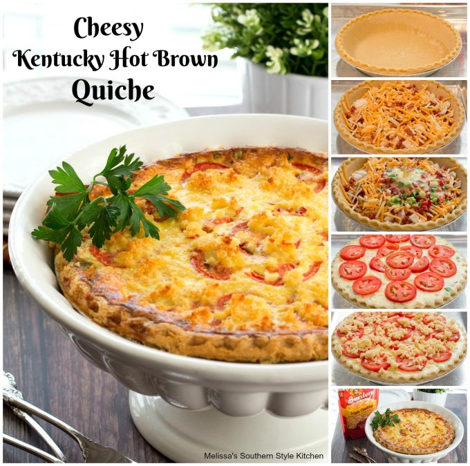 Cheesy Kentucky Hot Brown Quiche