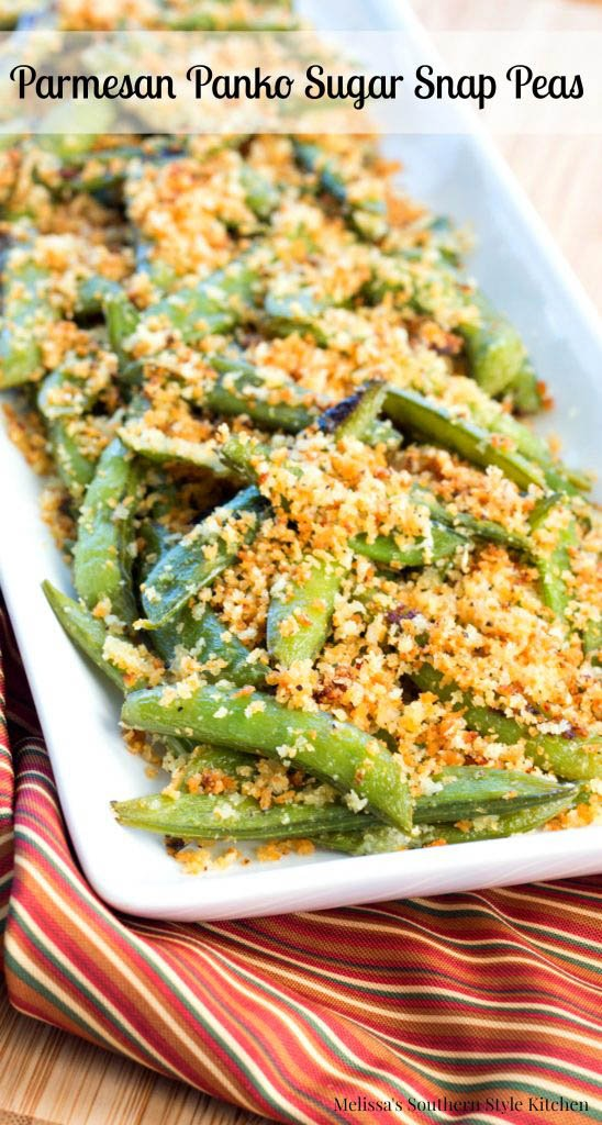Parmesan Panko Sugar Snap Peas