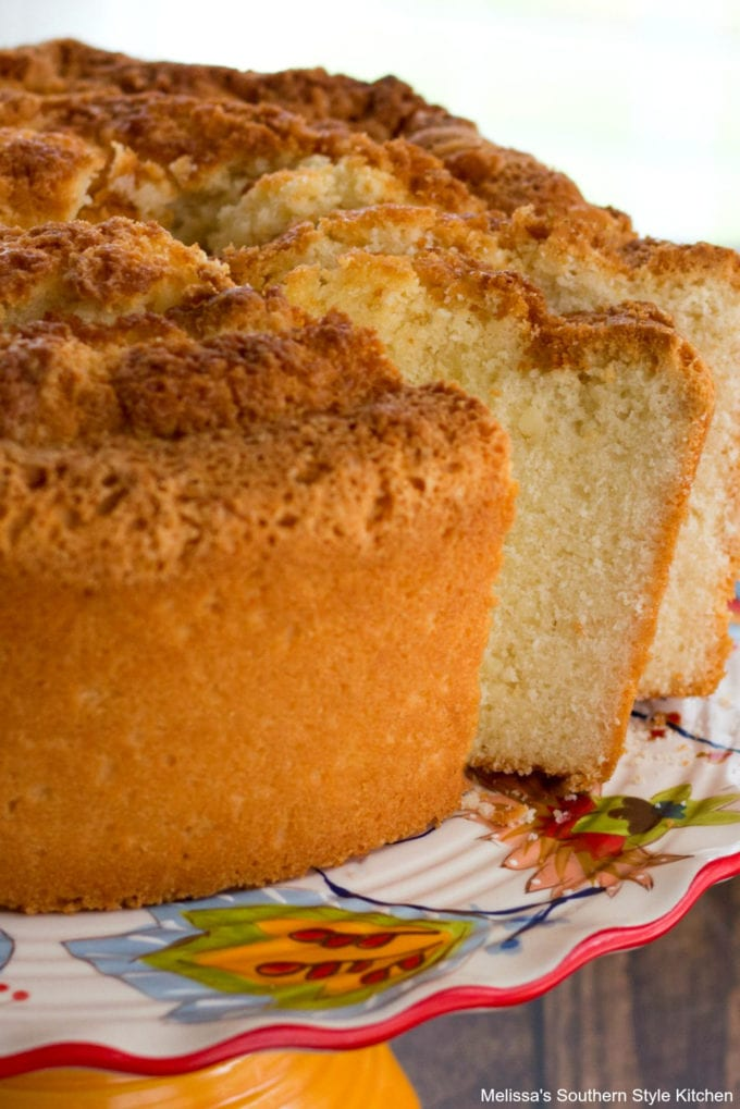 cake on a pedestal
