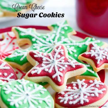 Cut Out Cream Cheese Sugar Cookies