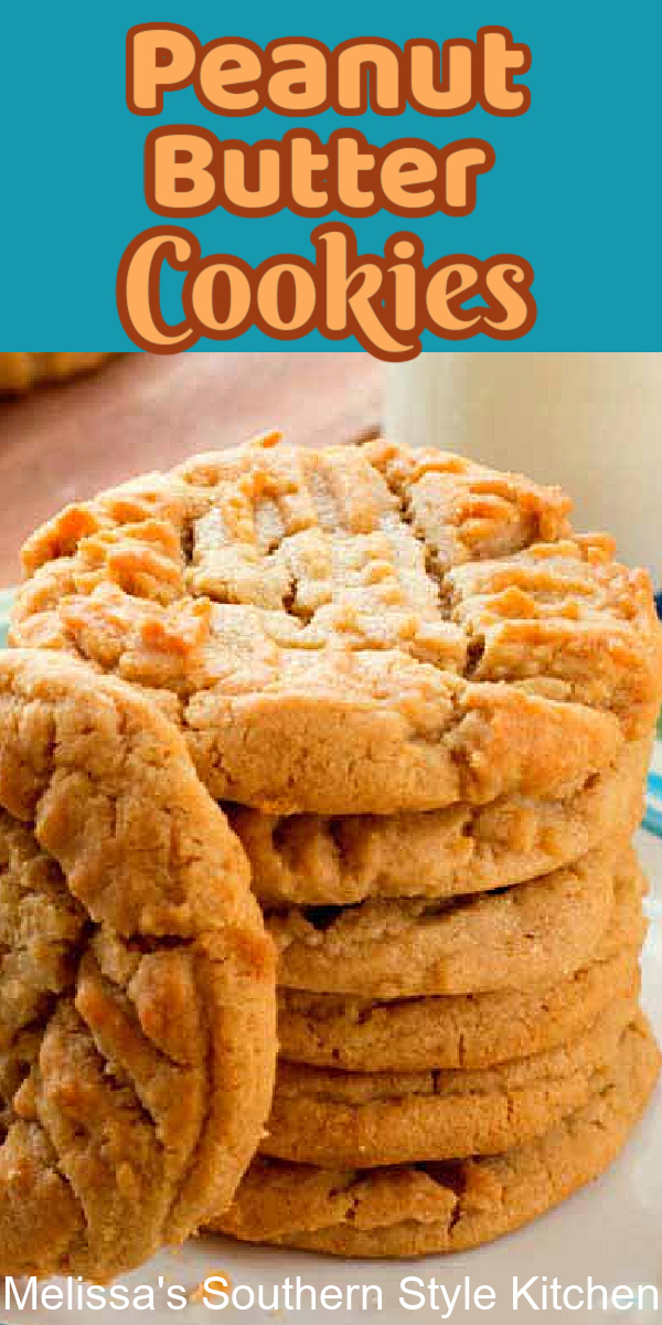 These Classic Soft Peanut Butter Cookies pack a taste of nostalgia in every bite #peanutbuttercookies #classicpeanutbuttercookies #cookies #cookierecipes #holidaybaking #christmascookies #holidays #peanutbutter #comfortfcood #kidfriendly #southernfood #southernrecipes