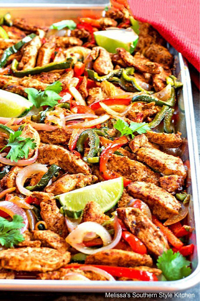 easy Sheet Pan Chili-Lime Chicken Fajitas