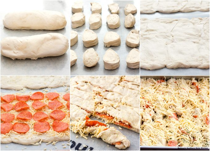 Pull Apart Pepperoni Bread Sticks