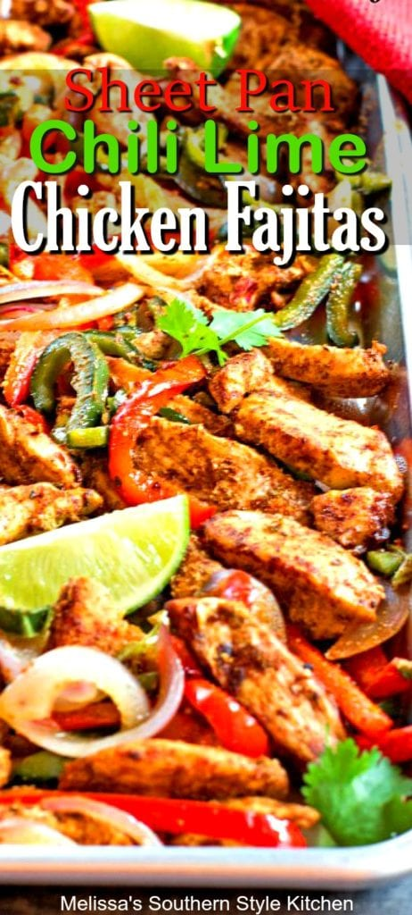Sheet Pan Chili-Lime Chicken Fajitas