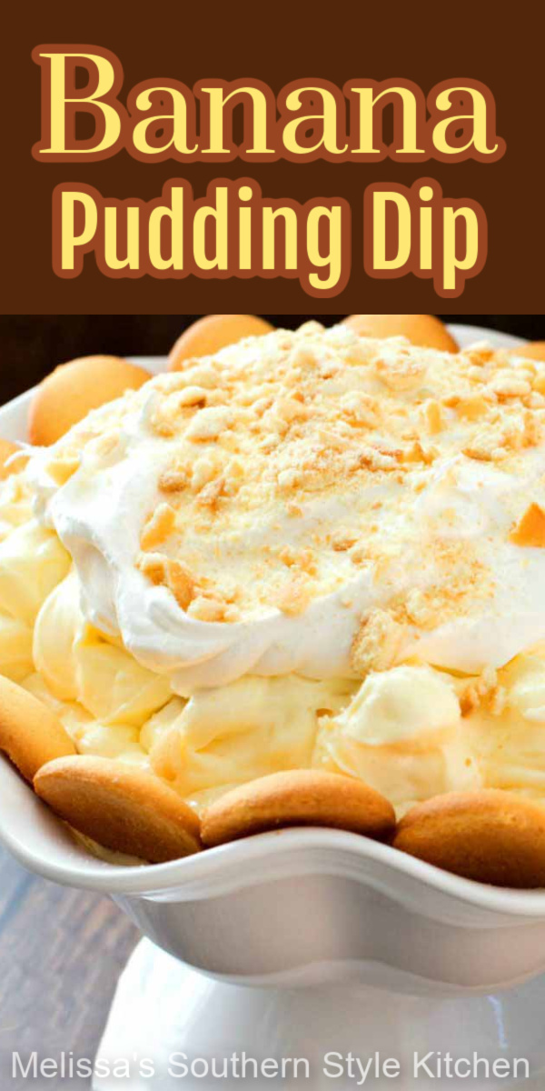 Banana pudding fan will flip for this dessert served with vanilla wafers for dipping! #bananapudding #bananas #pudding #diprecipes #bananapuddingdip #sweets #desserts #dessertfoodrecipes #easyrecipes #holidayrecipes #southernfood #southernrecipes