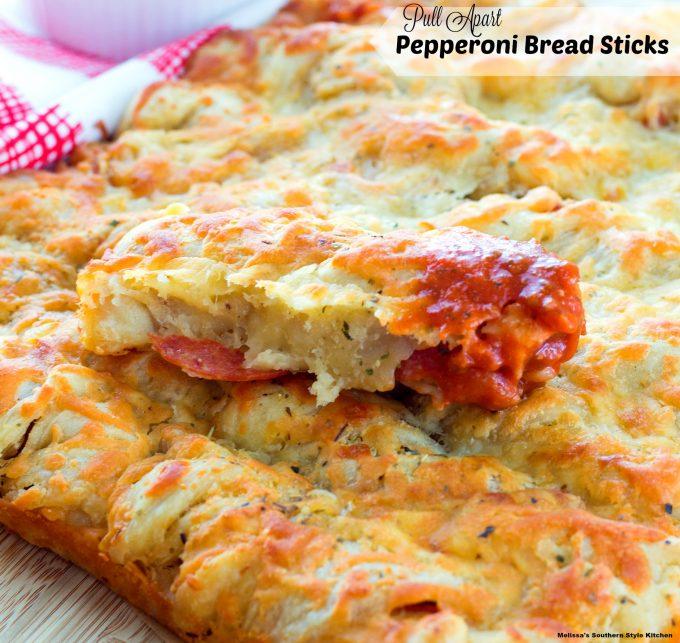 Pull Apart Pepperoni Bread Sticks