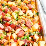 Sheet Pan Kielbasa and Yukon Gold Potato Hash