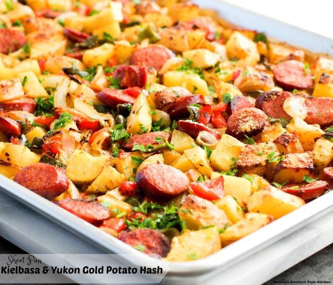 Sheet Pan Kielbasa and Yukon Gold Potato Hash